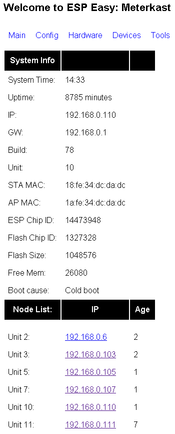 ESP Easy web interface - Let's Control It