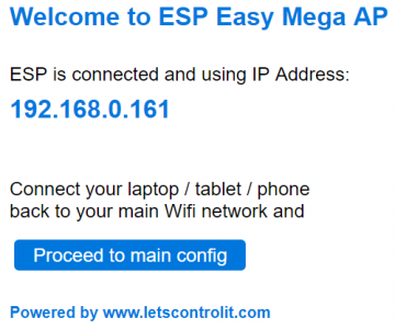 ESP Easy web interface - Let's Control It